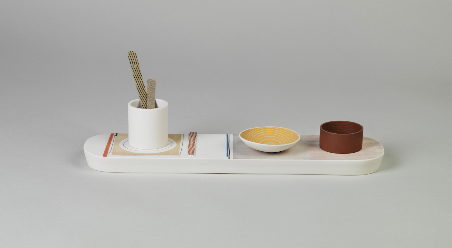 Bowl and cylinder composition