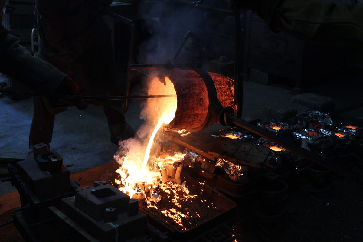 Bronze Casting at SSW. Photo: Archie Brooks