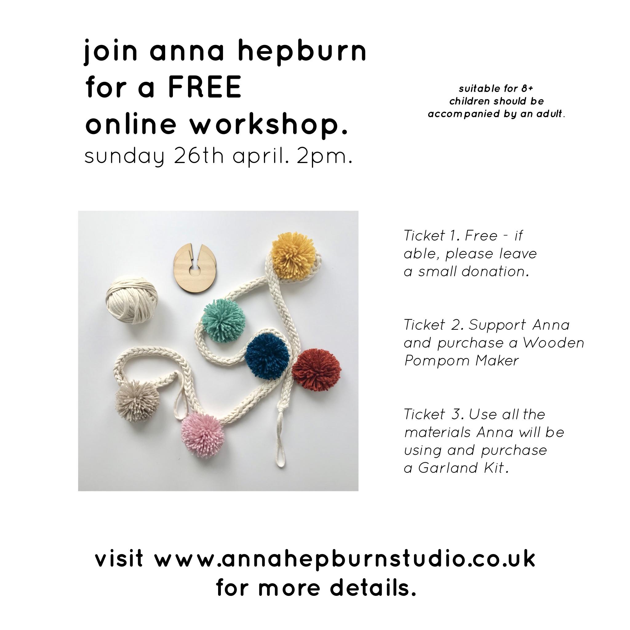 Pompom Garland Online Workshop