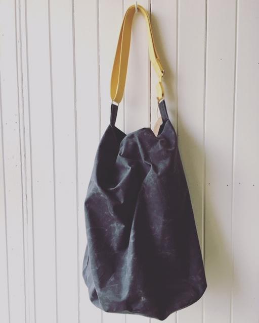 Oilskin Bucket Bag