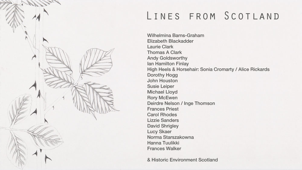 Programme for Fife Contemporary's Lines from Scotland exhibition