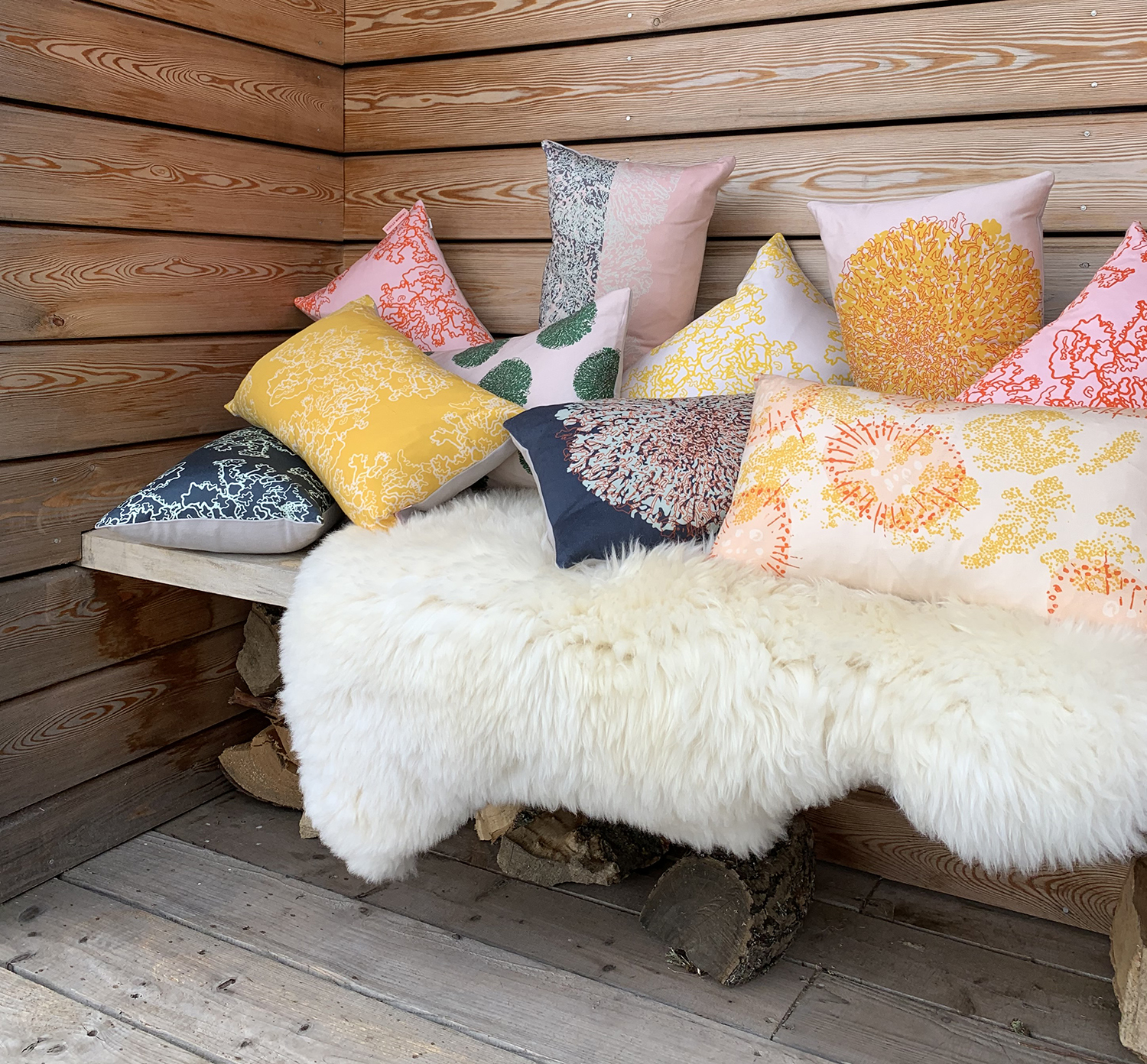 'Lichens' Cushion Collection