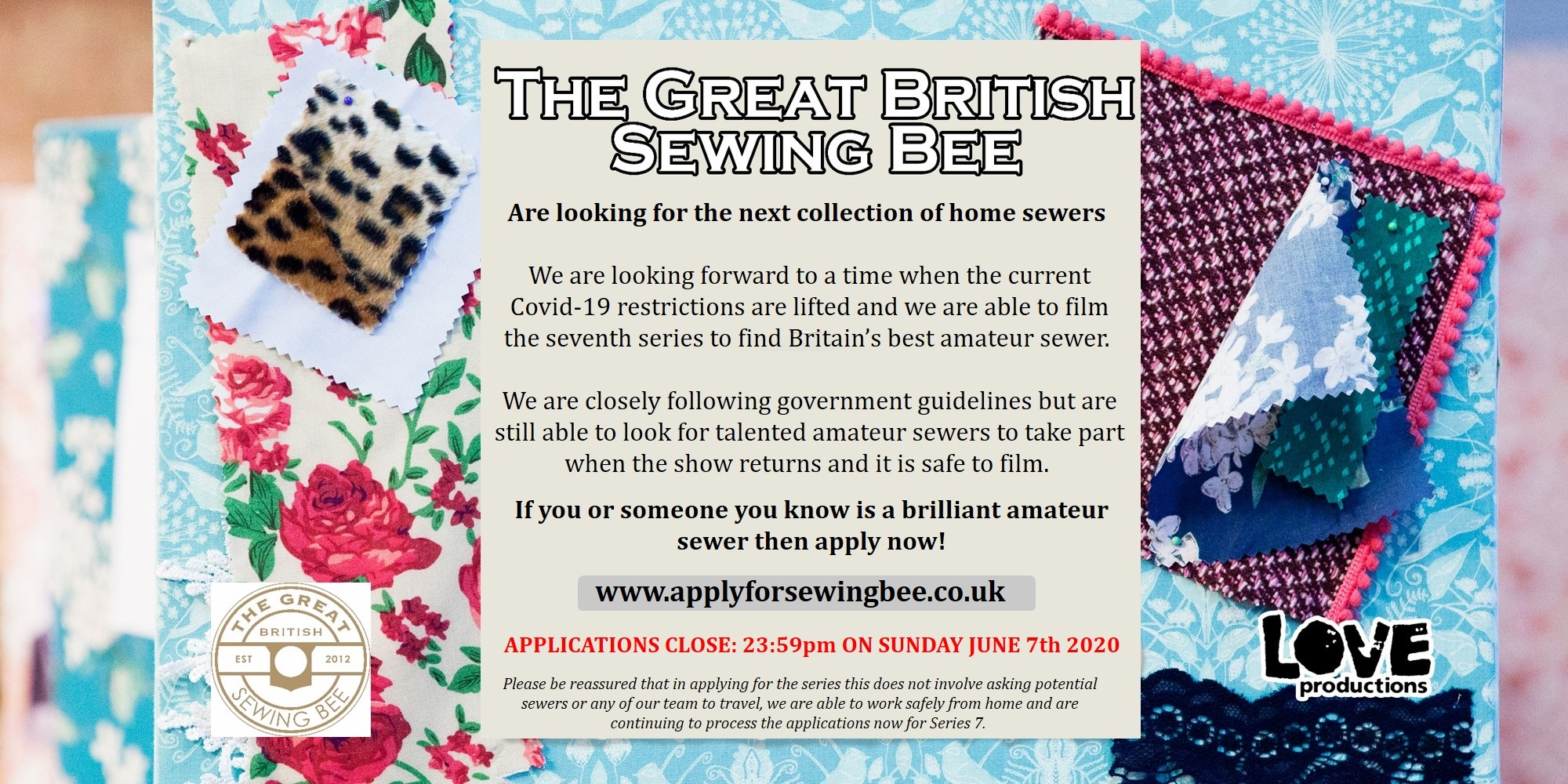 The Great British Sewing Bee- Apply now! Image #0
