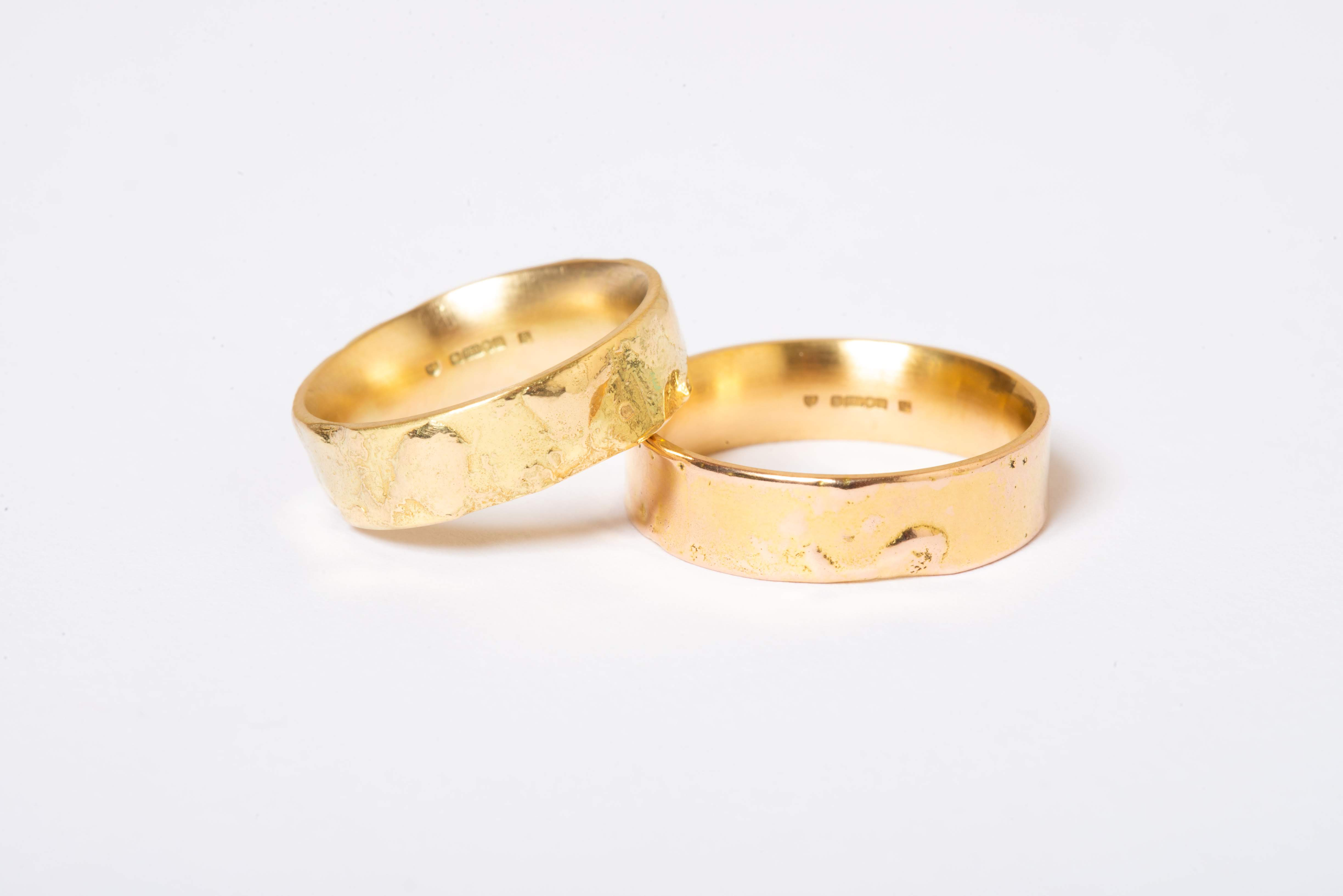 Fairtrade gold reticulated rings