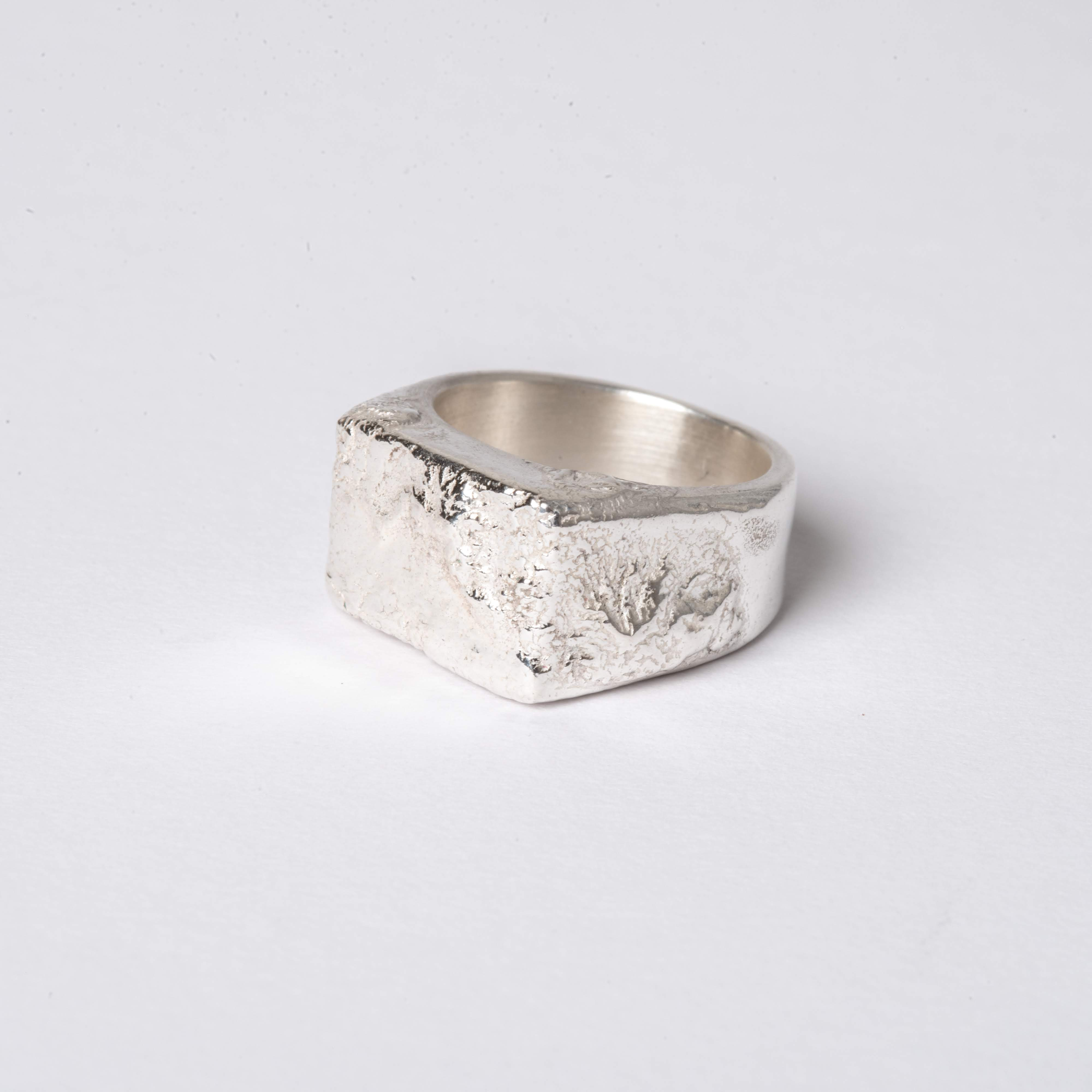 Recycled silver large signet