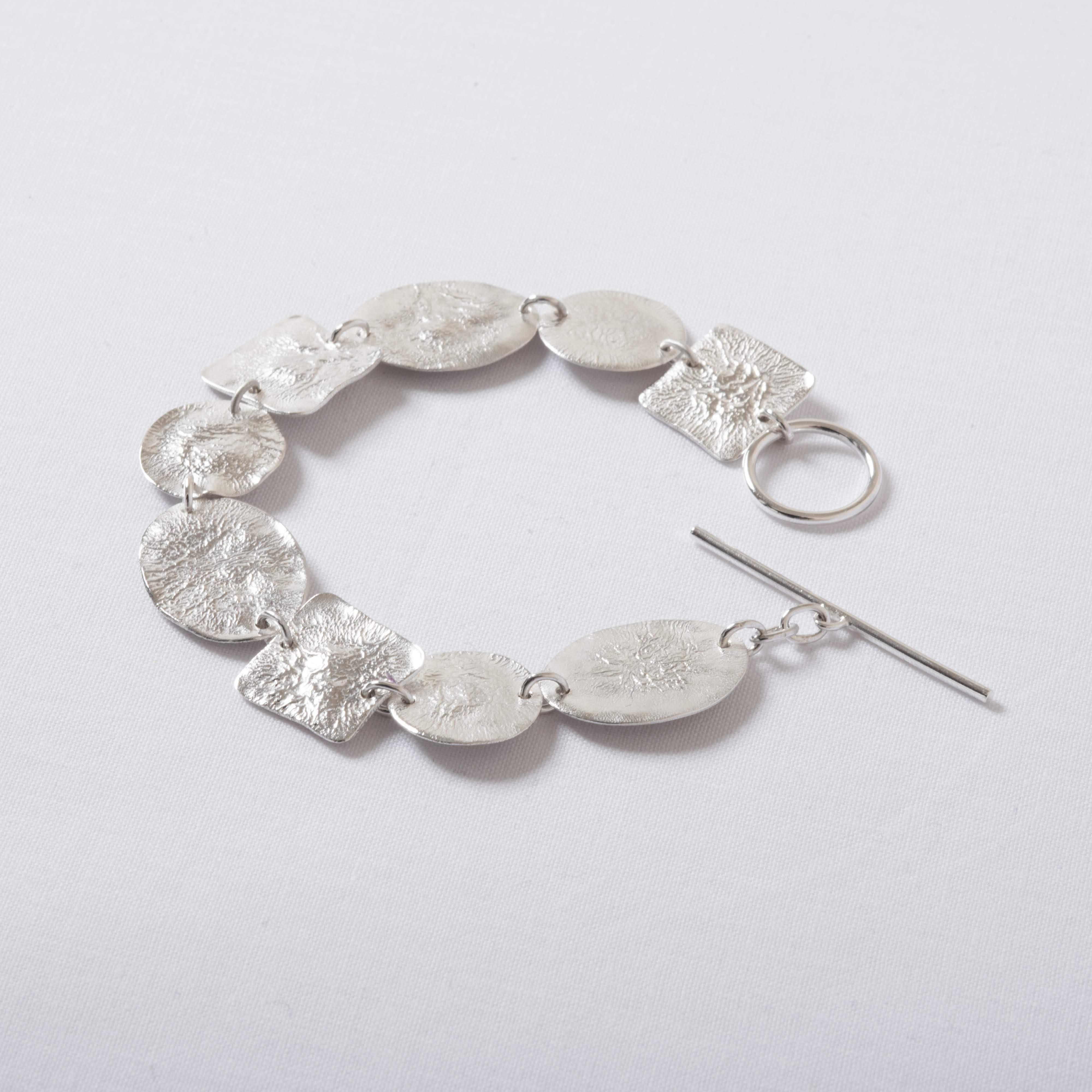 Silver shapes bracelet