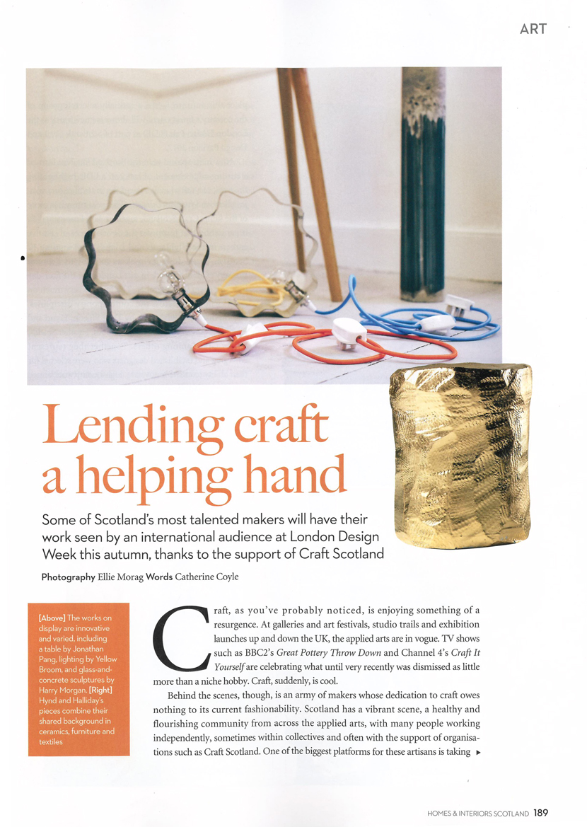 Home & Interiors: Scotland: Craft & Design  - Ellie Morag
