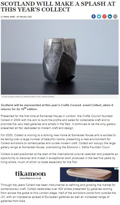 Scottish Field: Scotland will make a splash at this year's Collect -