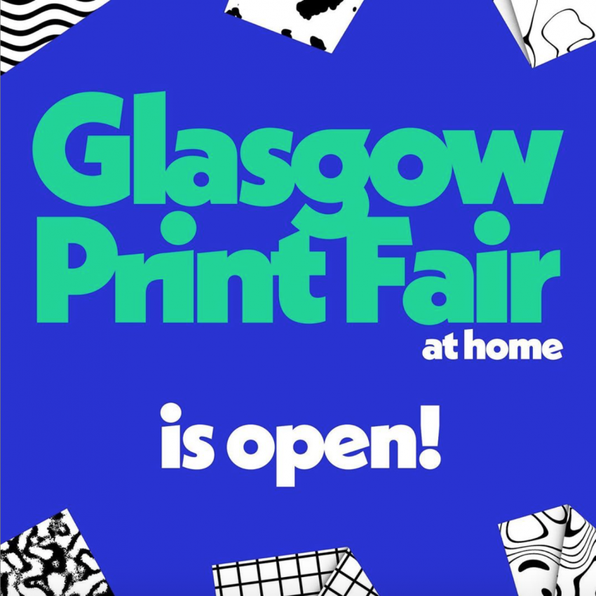 Glasgow Print Fair at home
