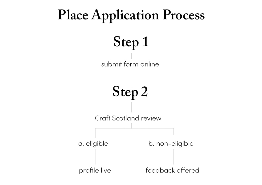 Places Application Process - Flow Chart - Information in text format below