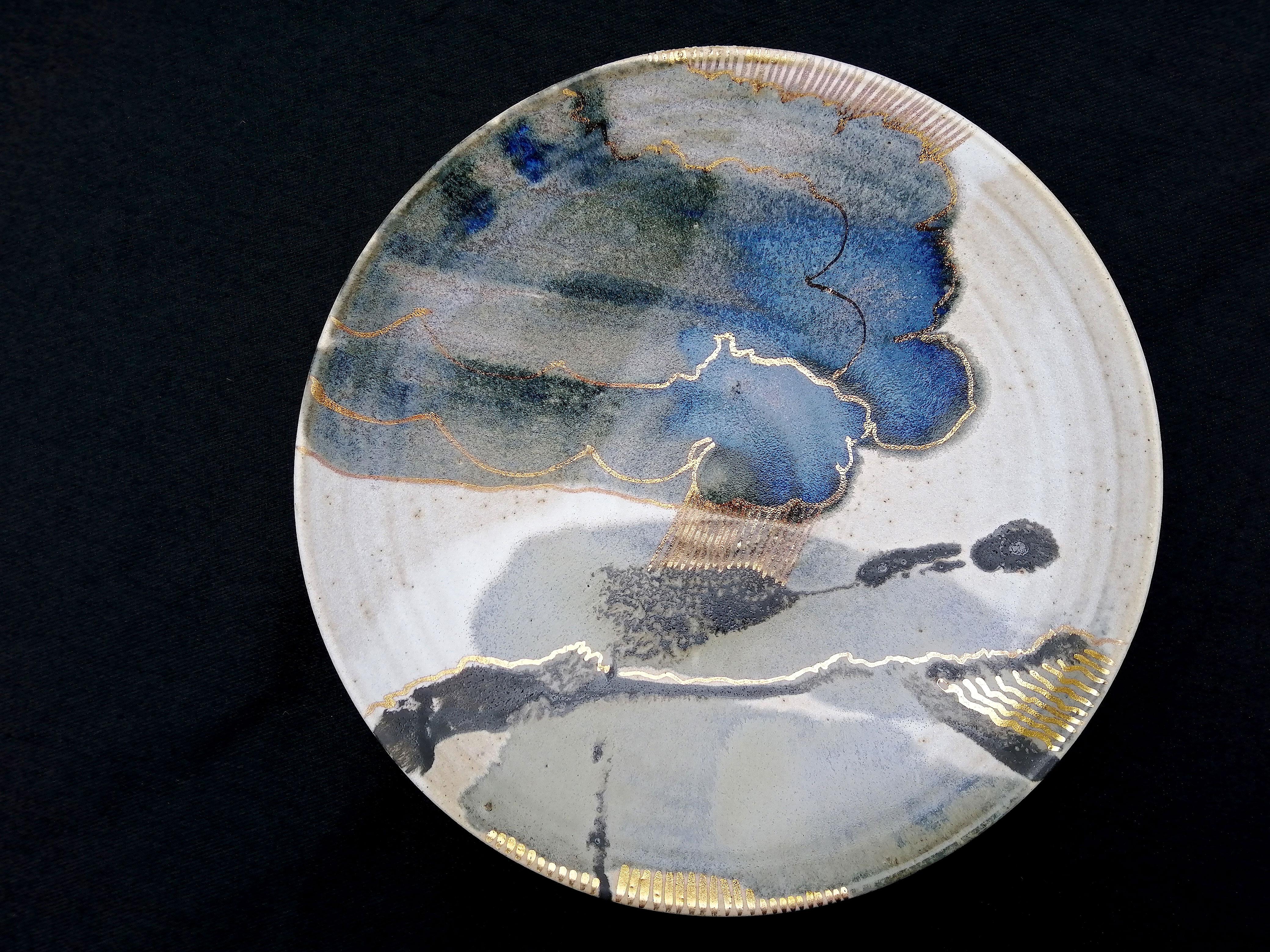 Pale Landscape Plate