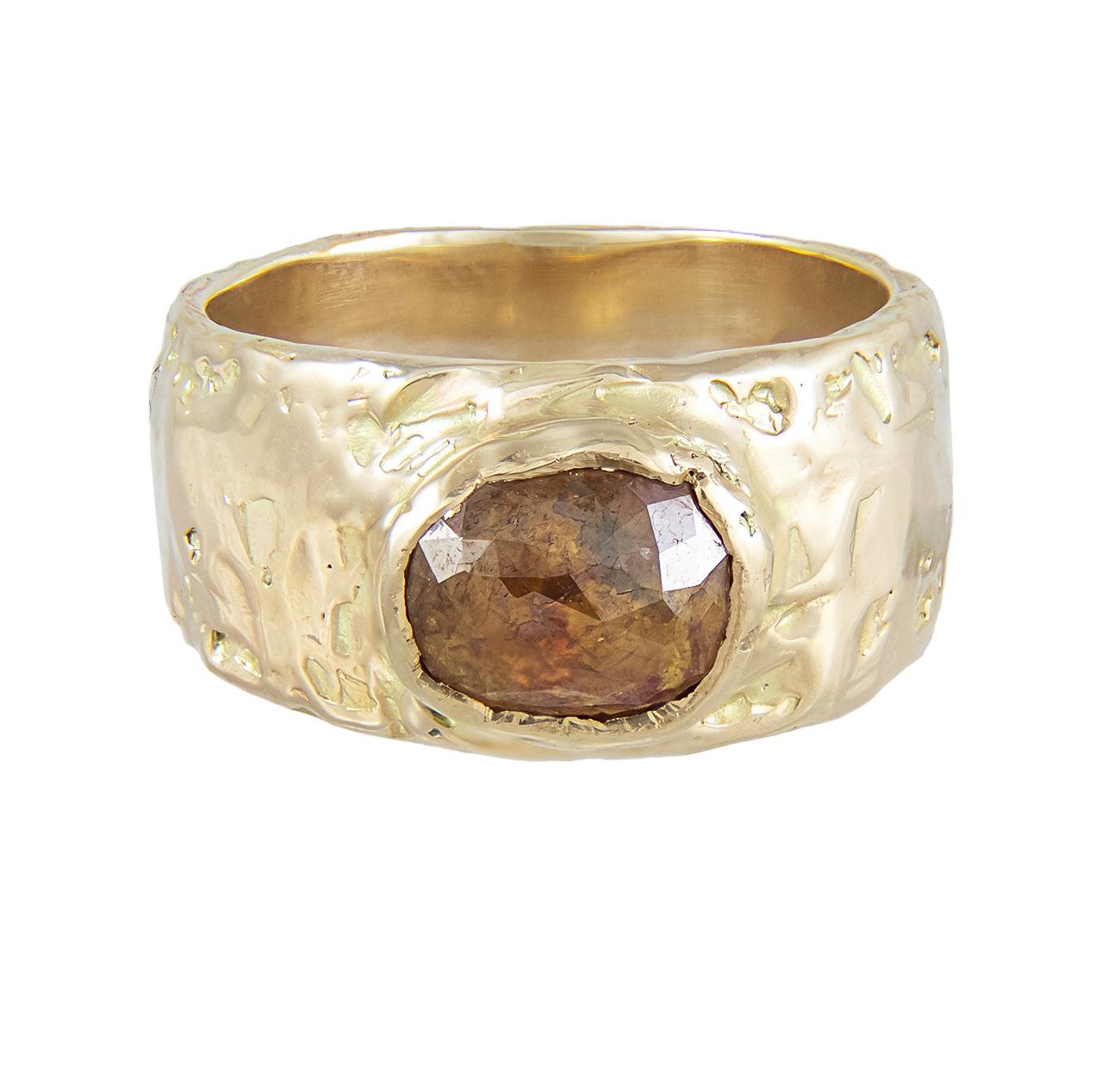XCI ORANGE DIAMOND WIDE RING