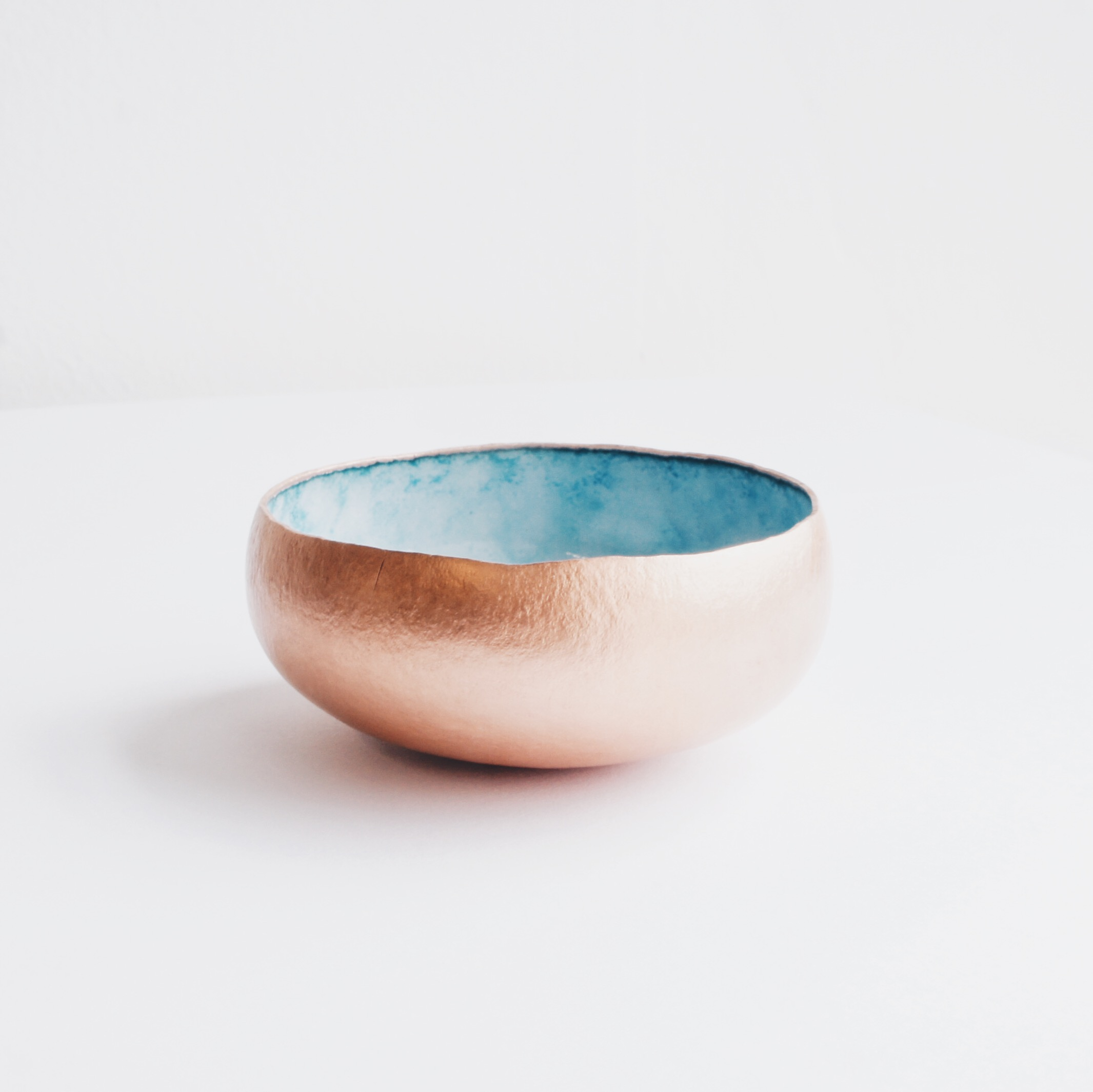 Copper and Enamel Bowl