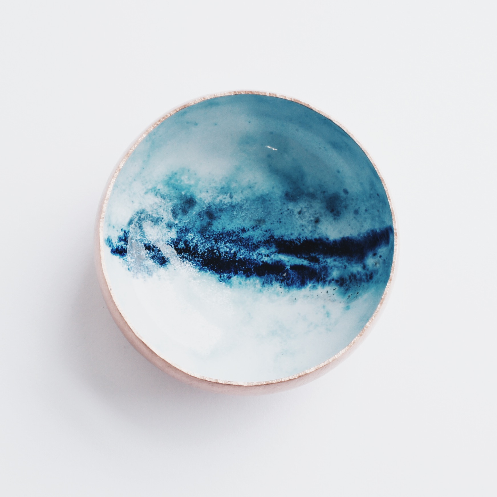 Copper and Enamel Bowl in Squall