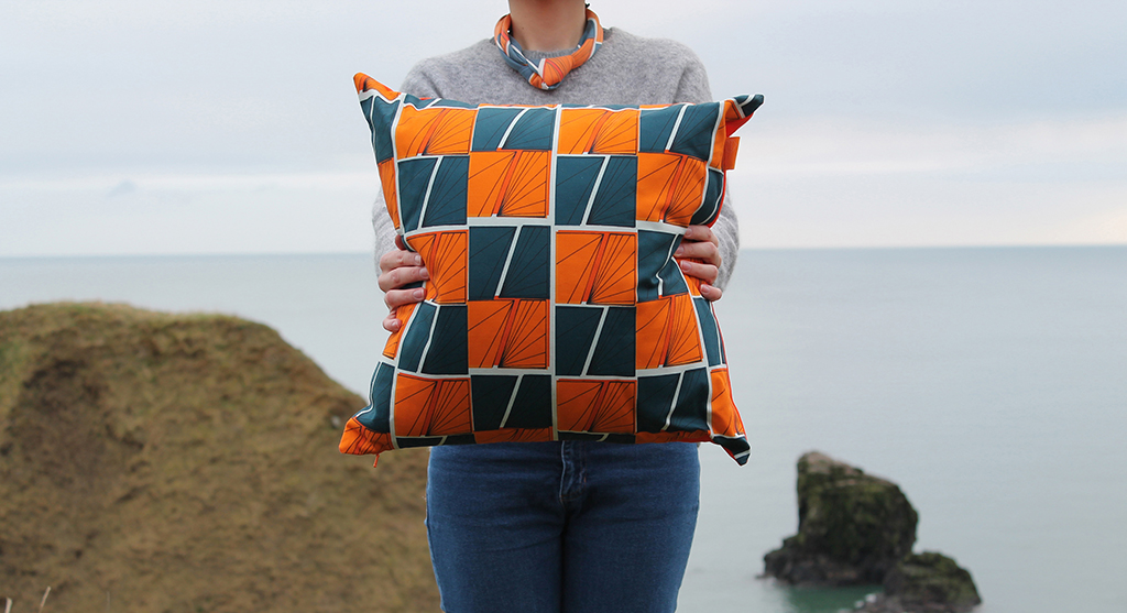 Signals Cushion in Play Colourway