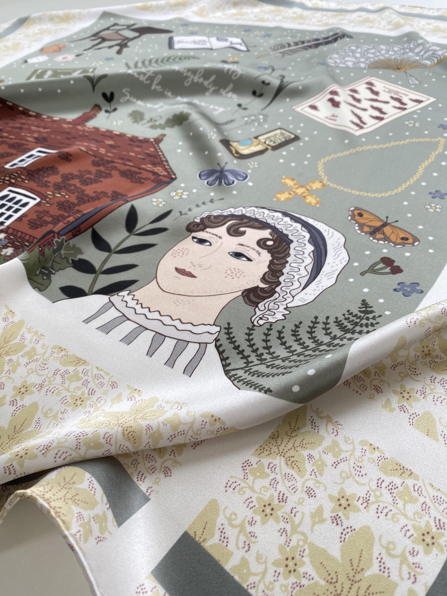 Jane Austen Silk Scarf