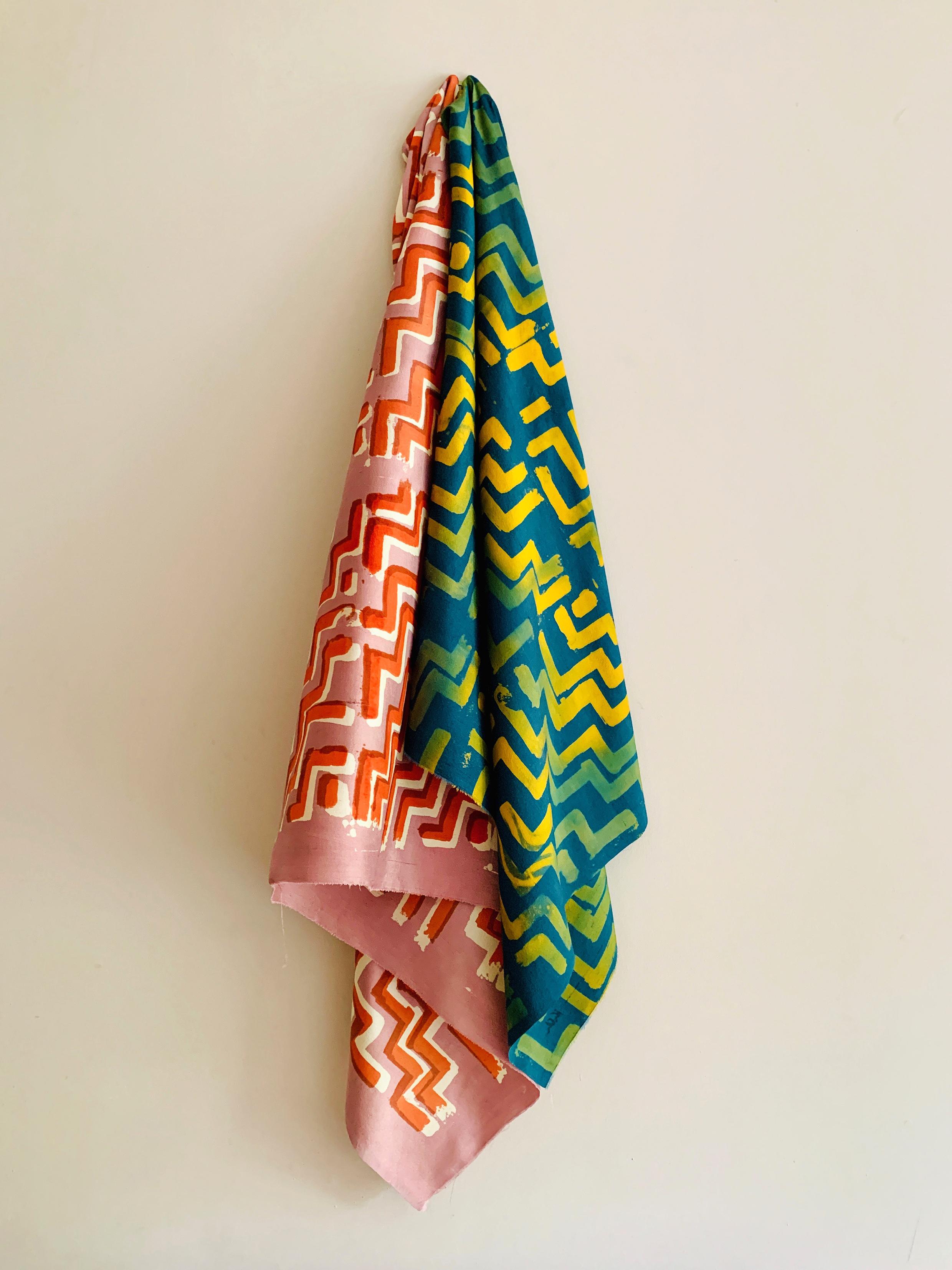 Ziggurat Silk Scarves