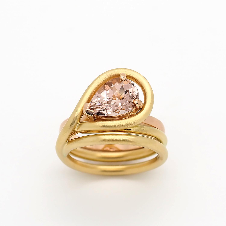 Yumiko Iijima, Gold Stacking Rings, Image by Yumiko Iijima
