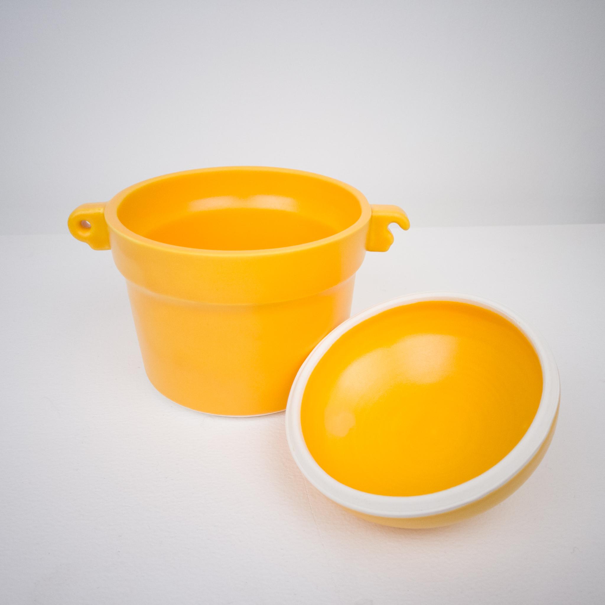 Small crock with Orange Julius glaze