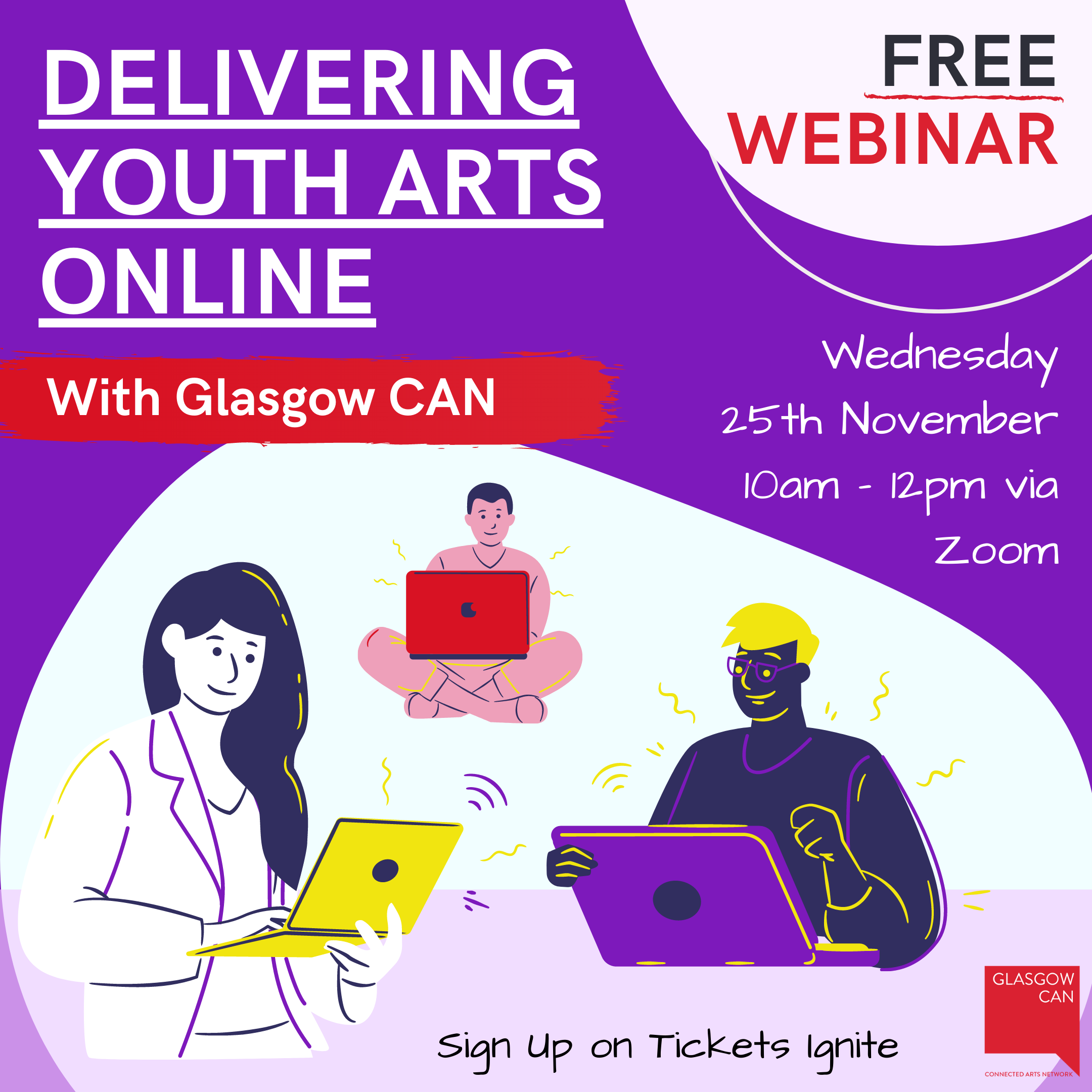 Delivering Youth Arts Online - FREE Training