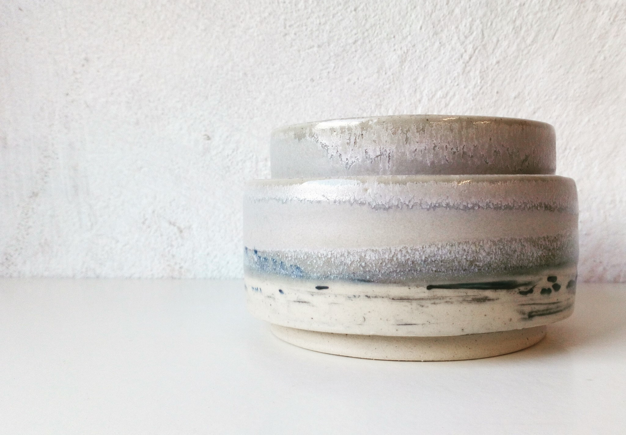 Sea & Sky stacking serving dishes
