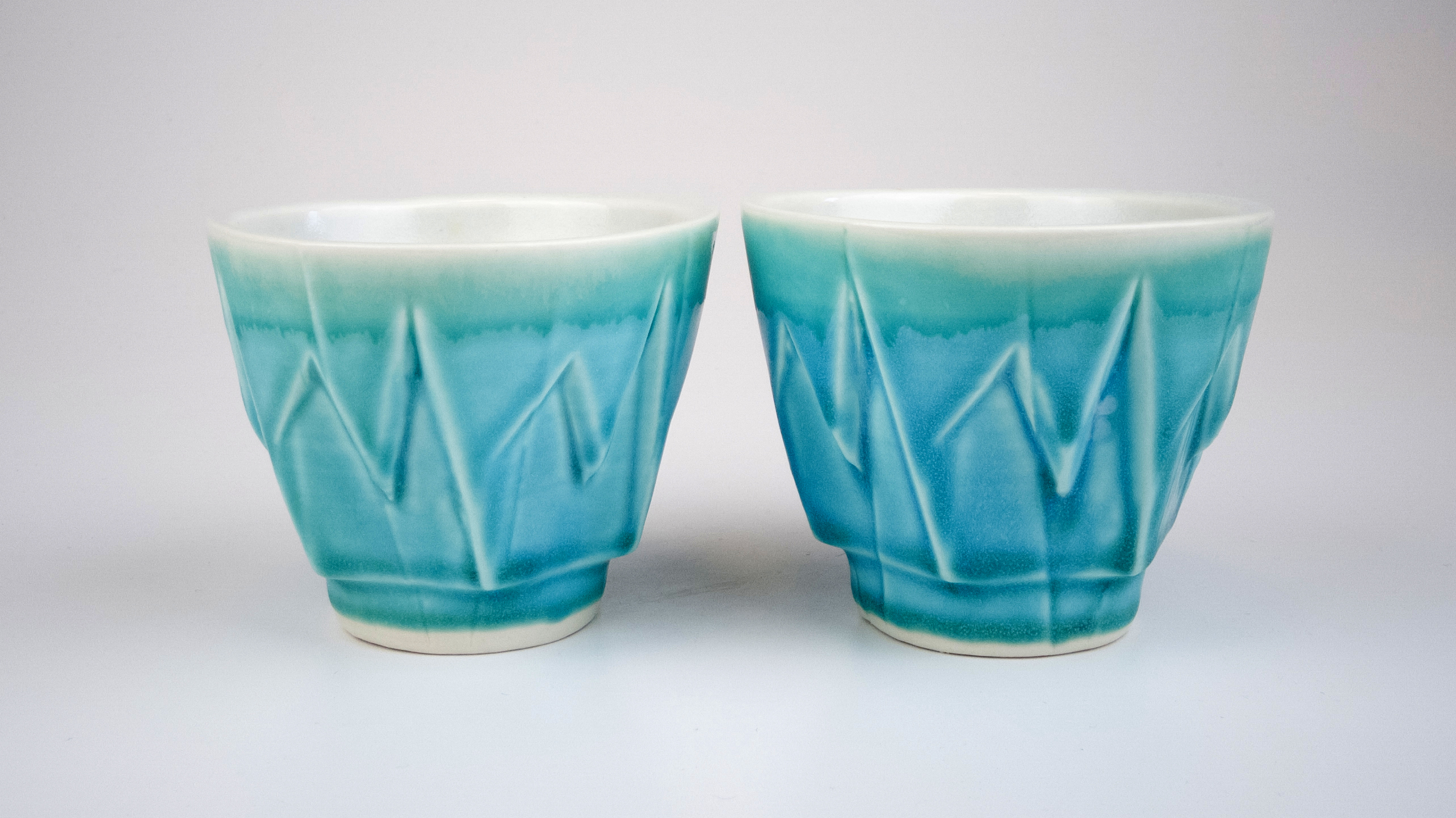 Stalactite Cup with Breaking Blue Glaze