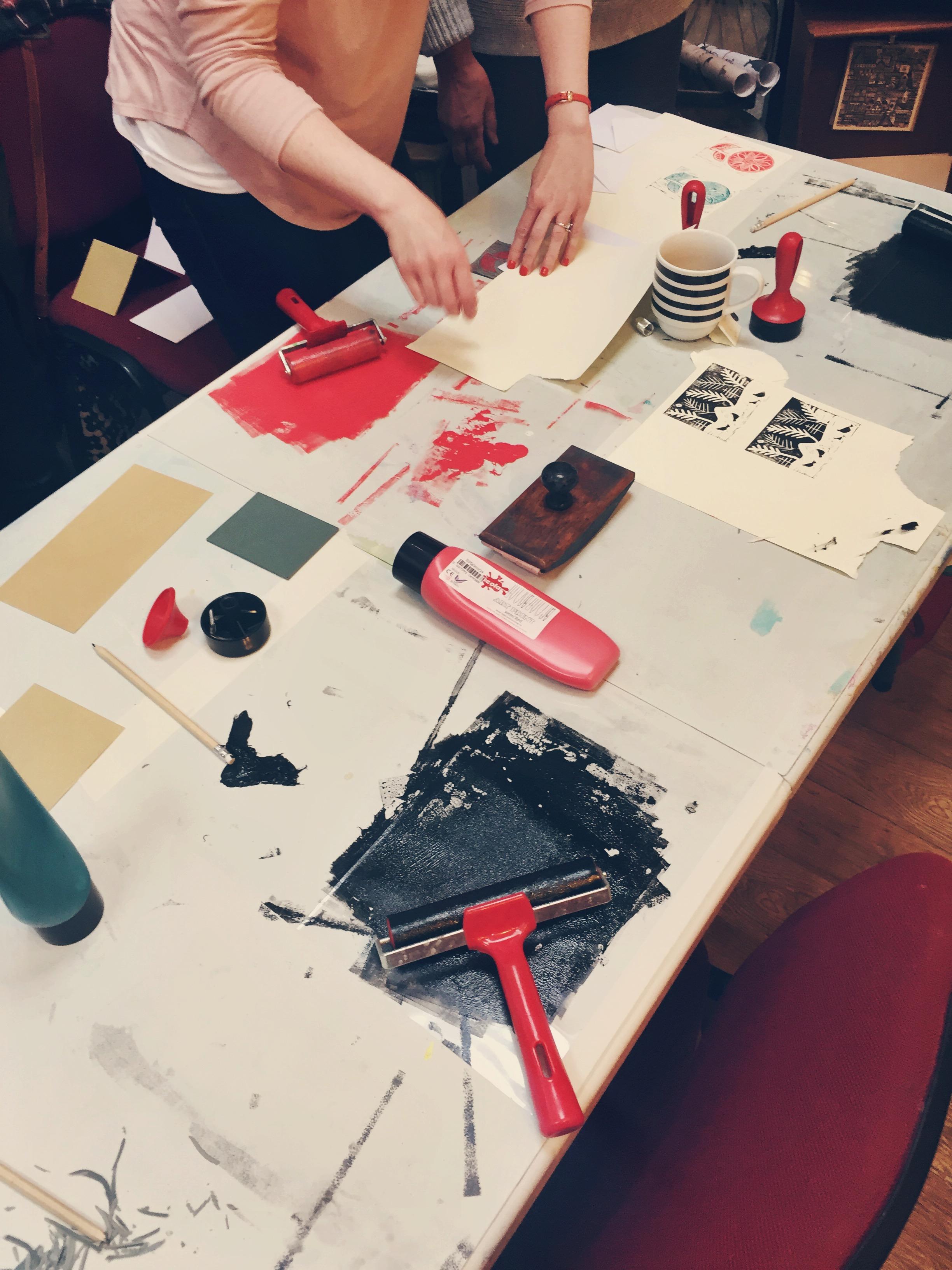 Lino Printing Class/>               </div>               <div class=