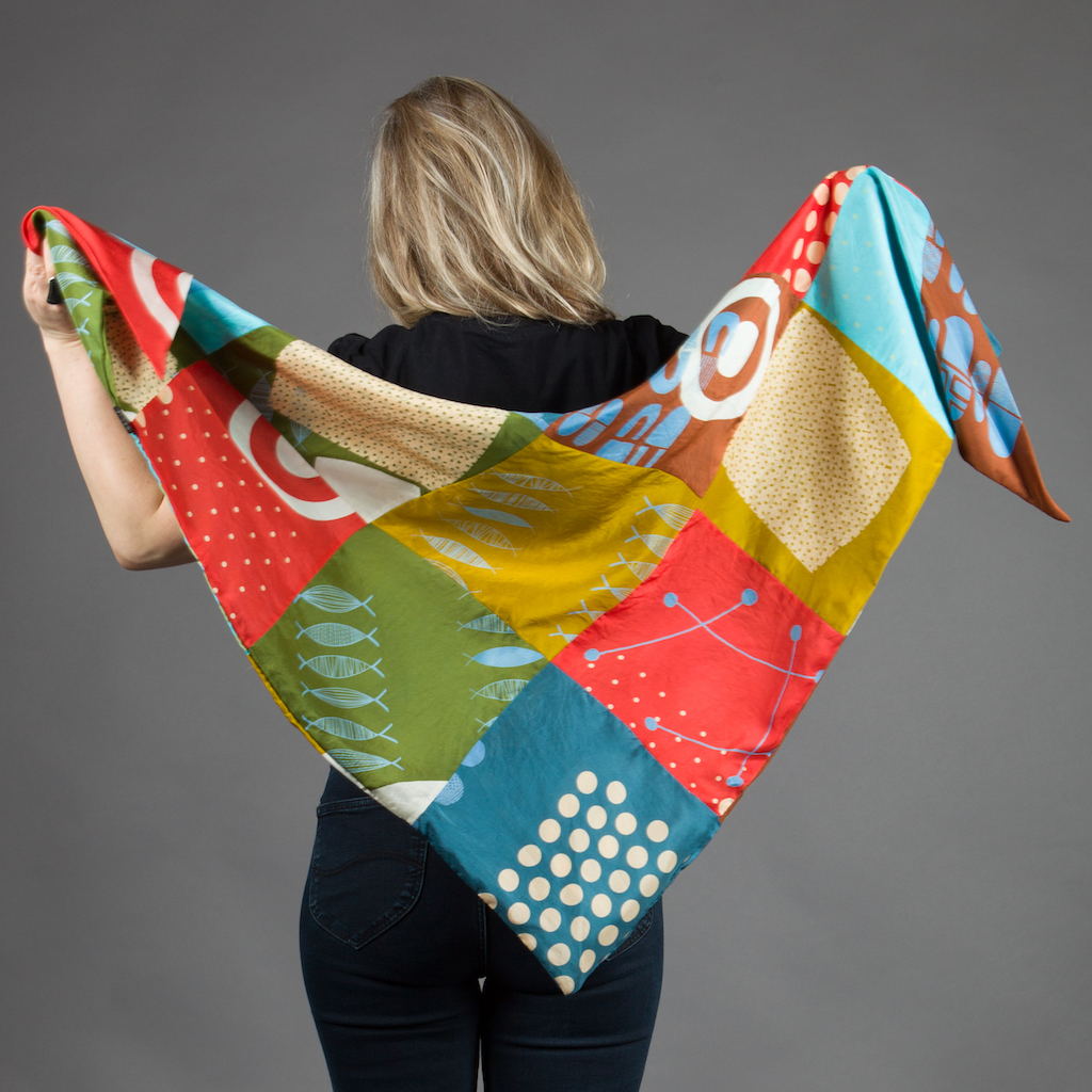 Mixed Prints Patchwork Scarf