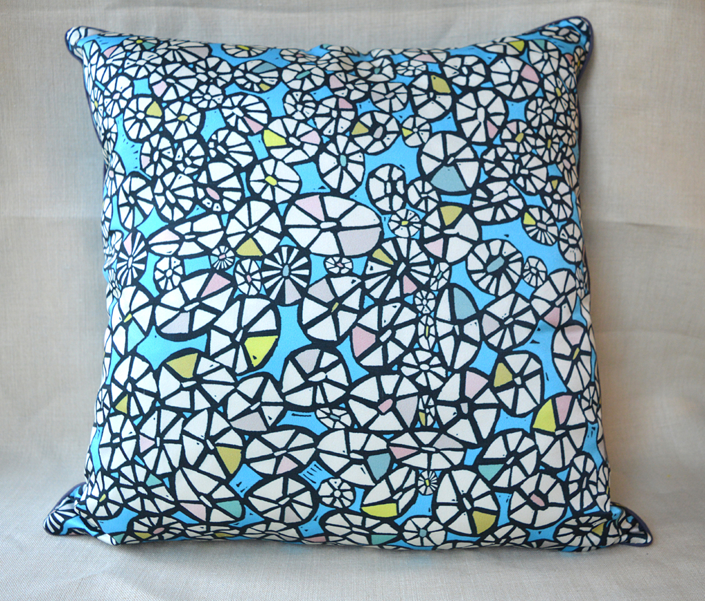 'Barnacle Blue' cushion