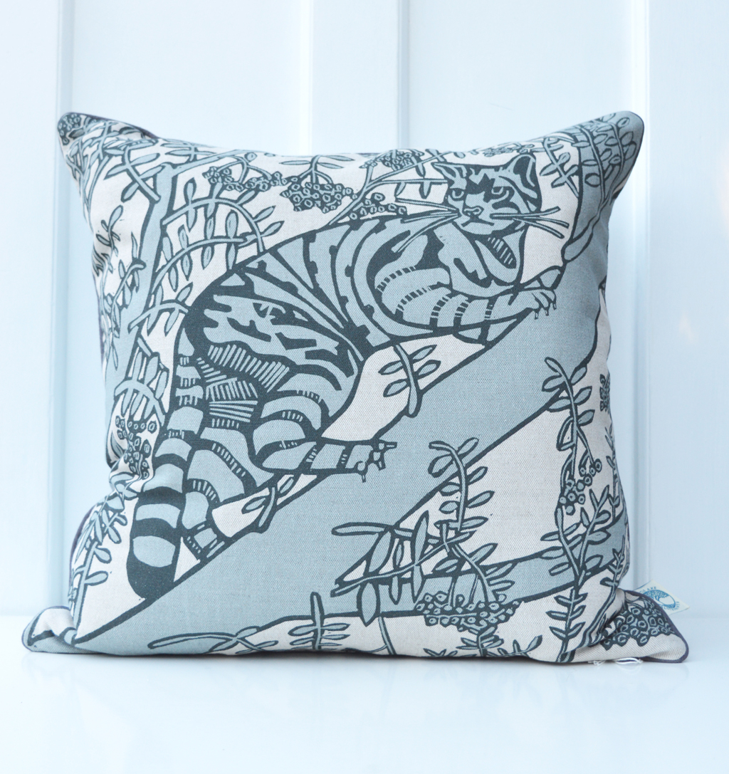 'Wild Cat Grey' cushion