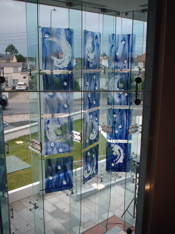 Carlow Credit Union, Carlow, Rep. of Ireland - Public Art, paiting on glass with integrated lenses a