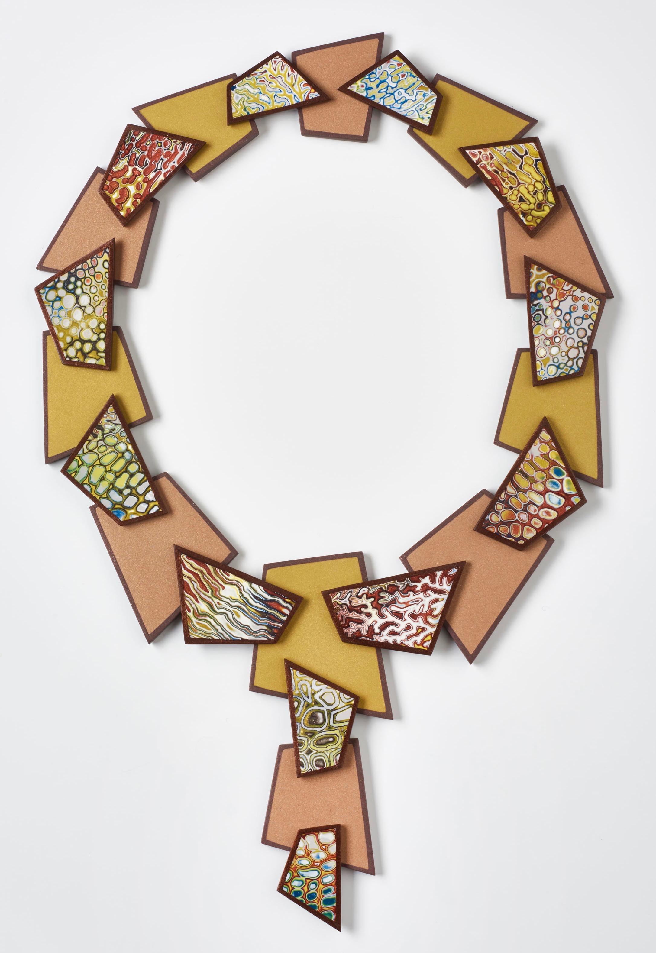Bronze Metallic Shards Necklace