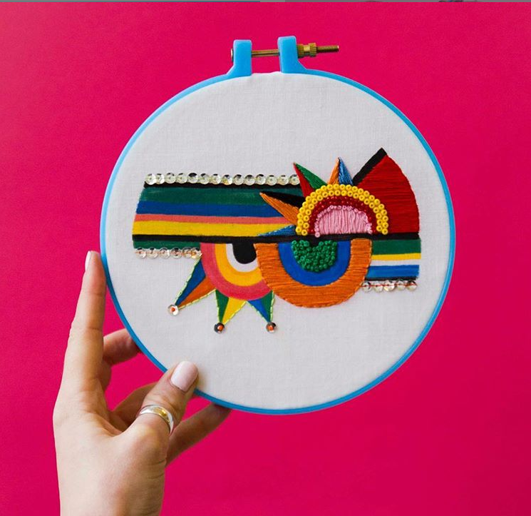 Mid-Century Modern Embroidery
