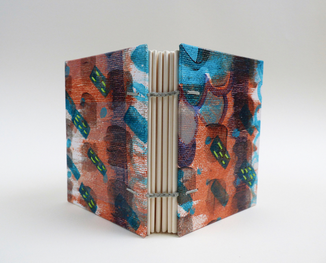 Painted and Stitched Book