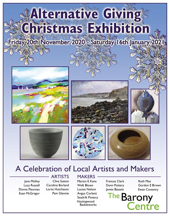 Alternative Giving Christmas Exhibition at The Barony Centre
