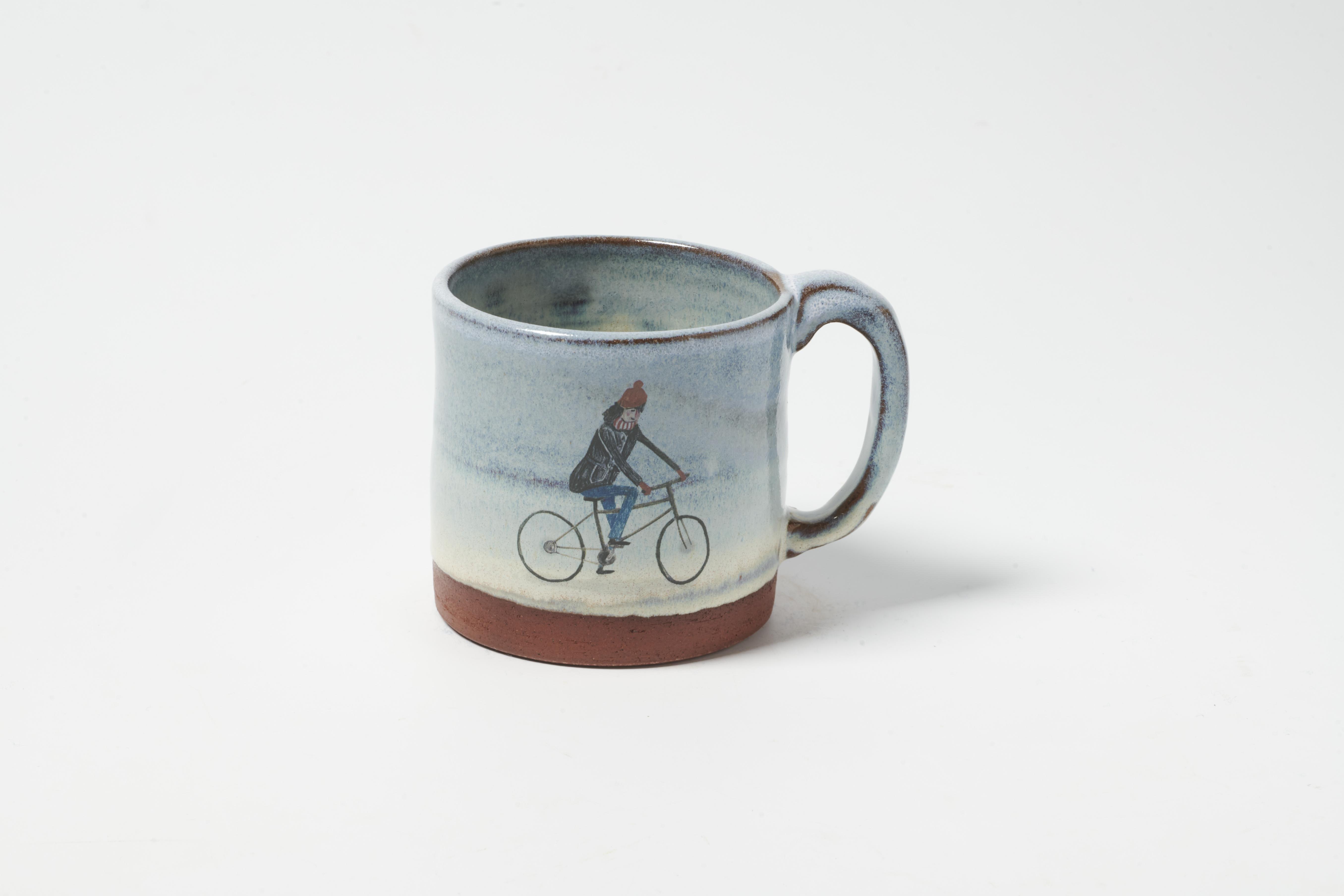 Girl on Bike Mug