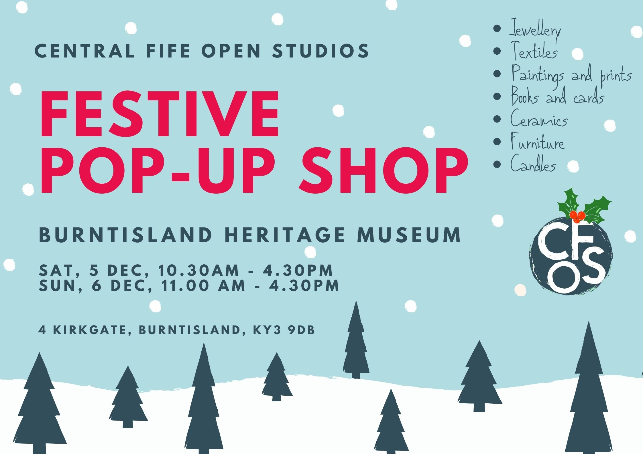 Central Fife Open Studios - Festive Pop Up Shop