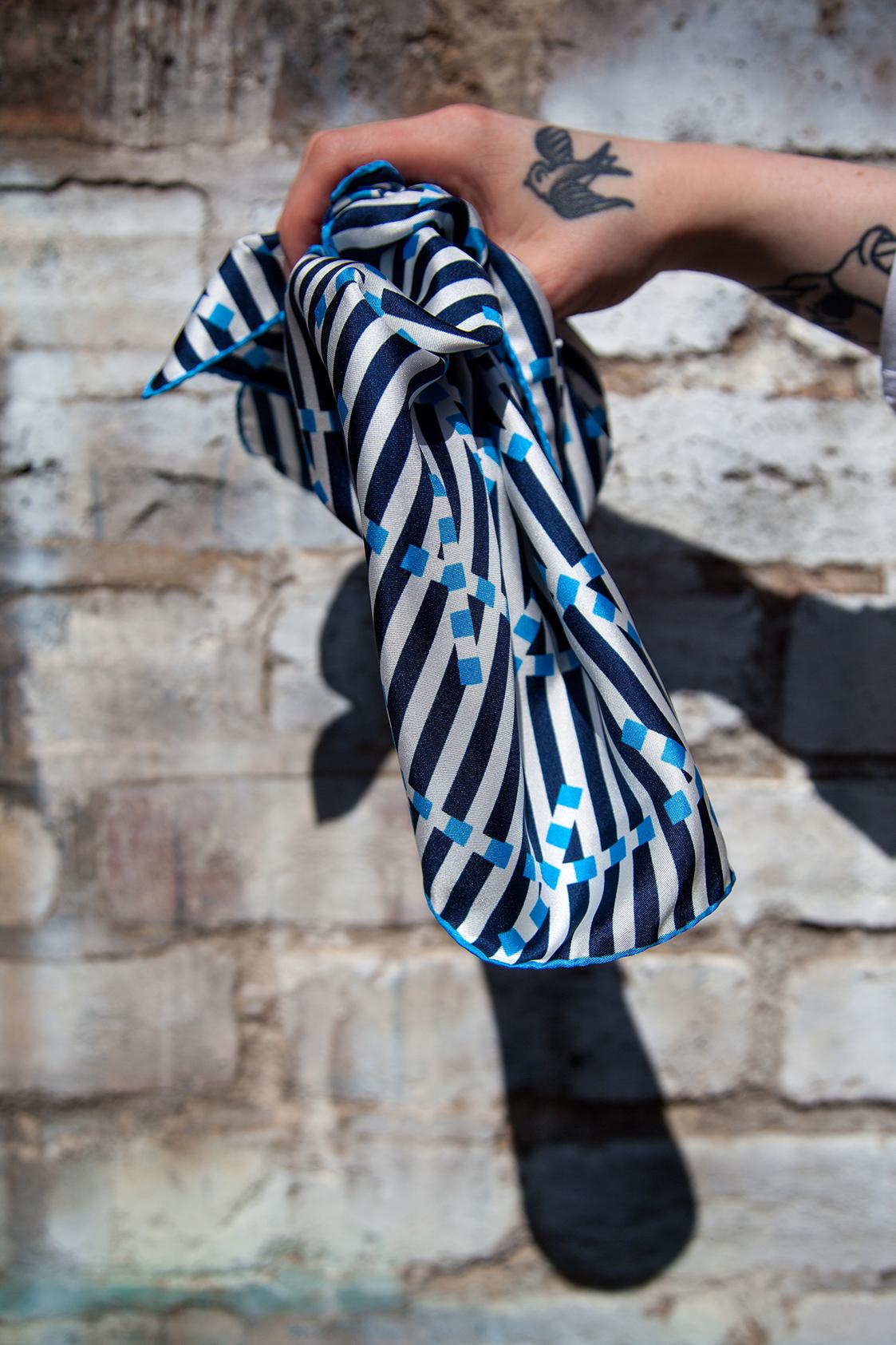 Breton Signal silk scarf