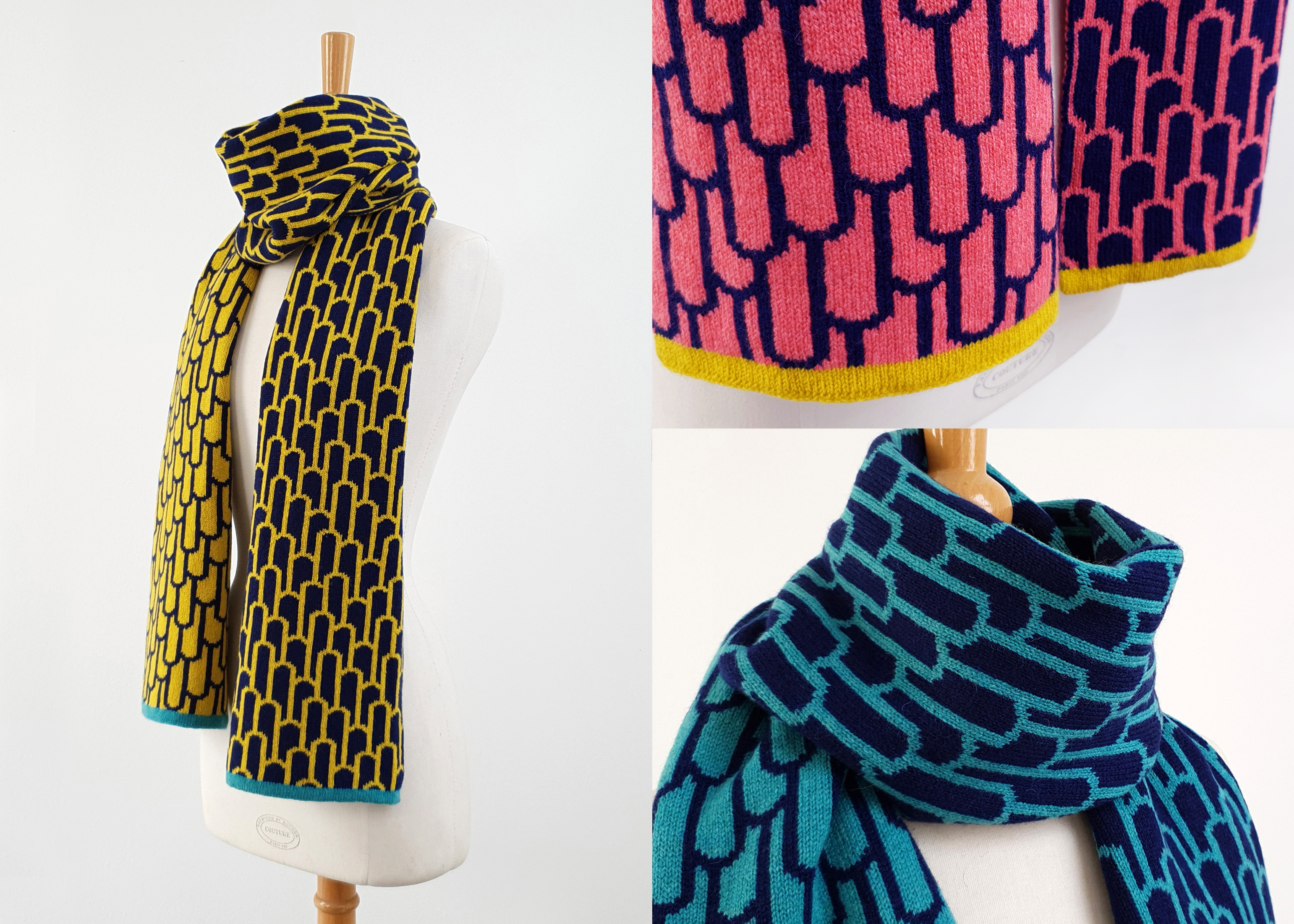 Arch Reversible Lambswool Scarves