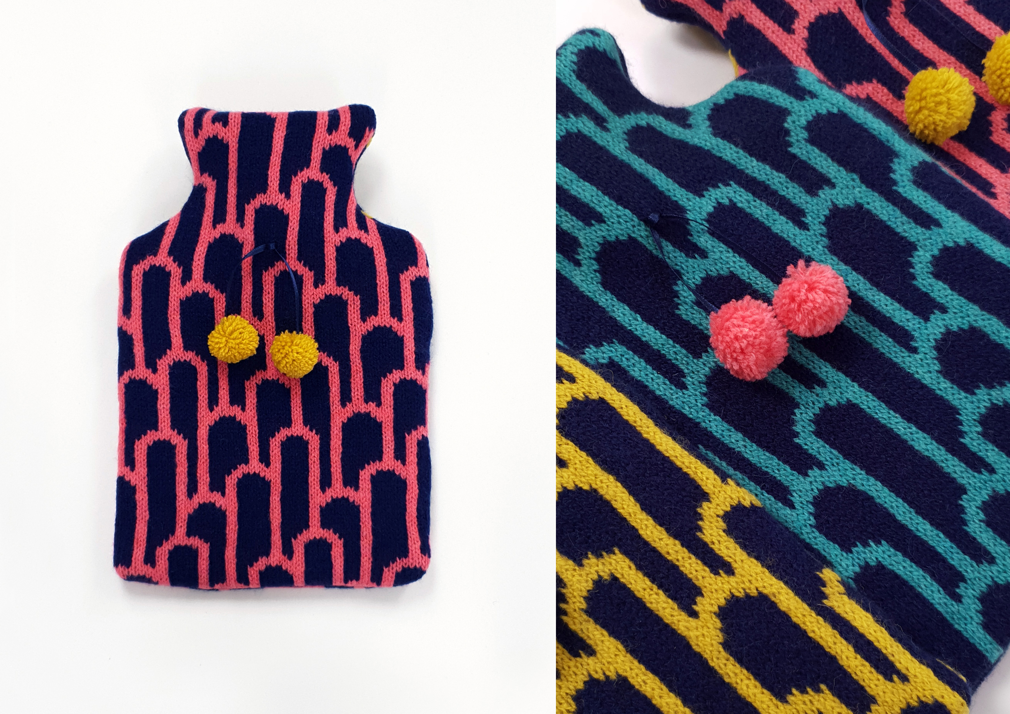 Arch Lambswool Mini Hot Water Bottle Covers