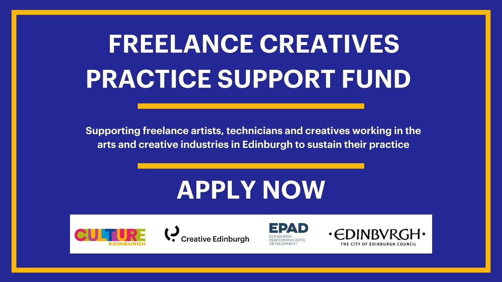 EPAD & Creative Edinburgh Freelance Creatives Practice Support Fund