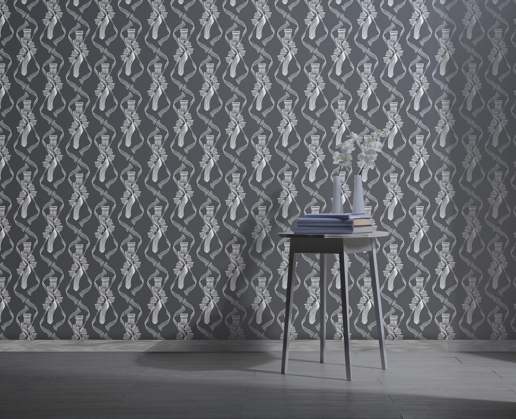 The Dance Wallpaper - White on Black