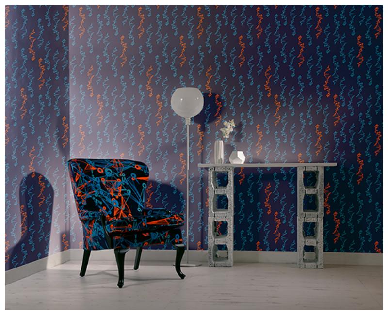 Hydra Wallpaper - Blue & Orange at Midnight