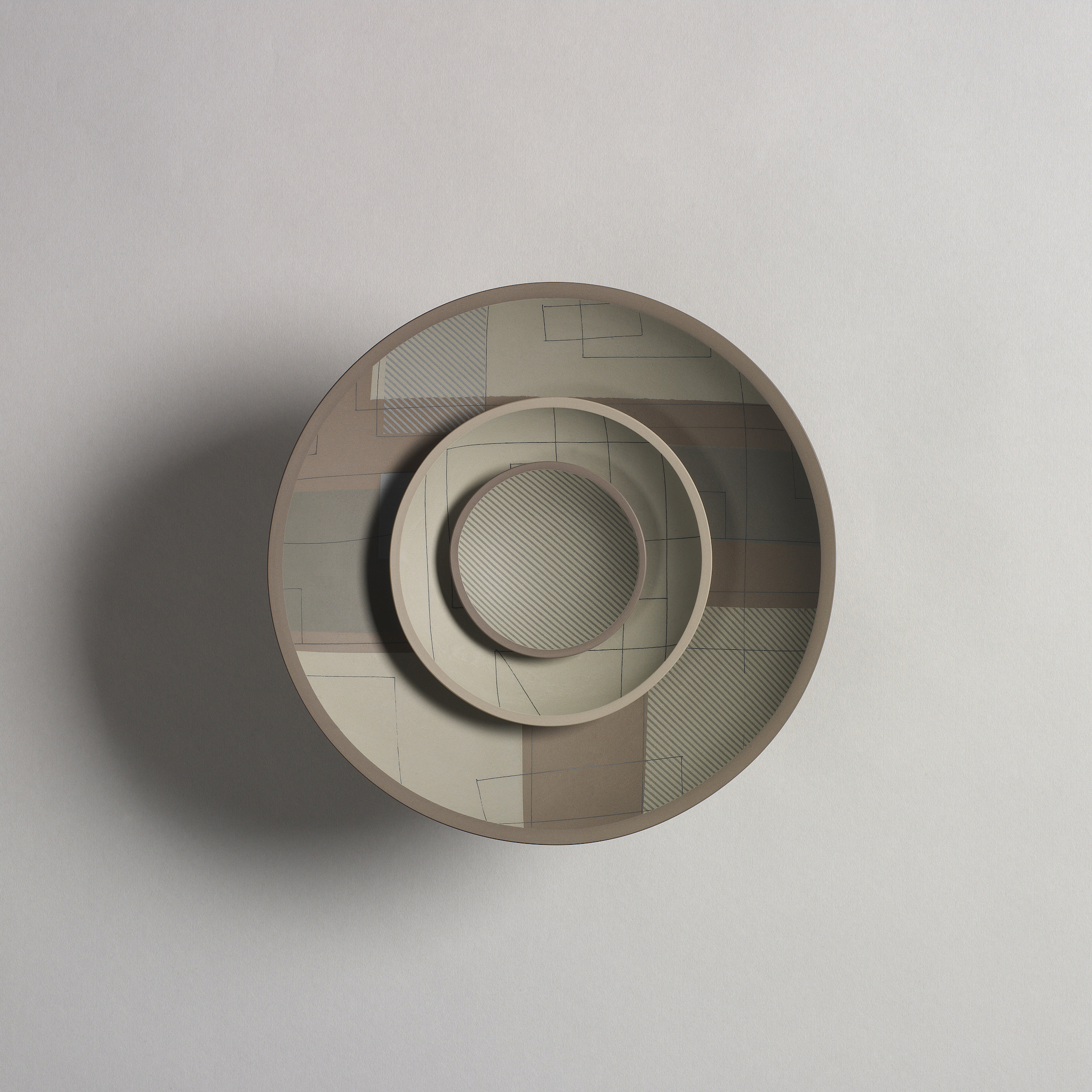 Three Bowls (taupe)