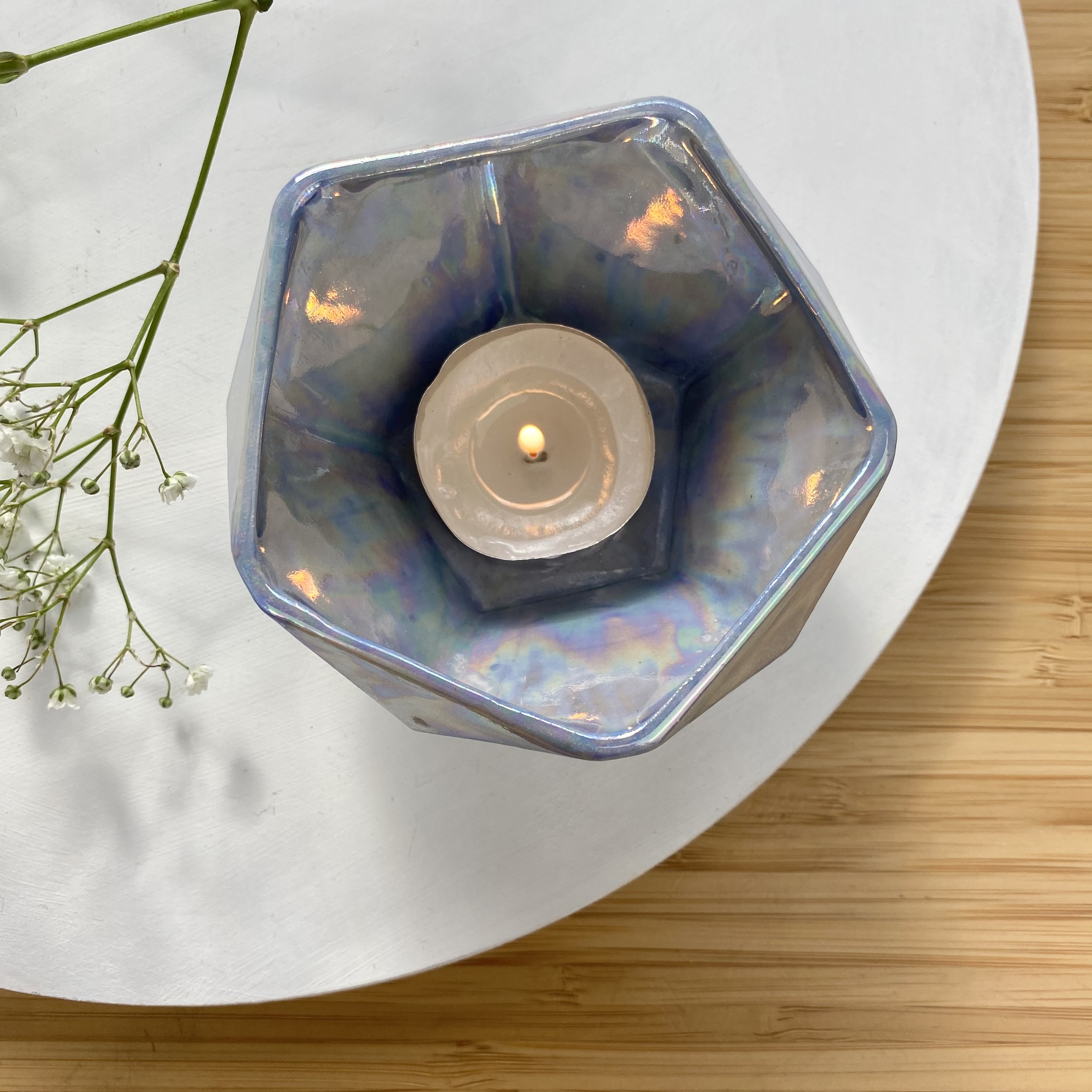Dodecahedron collection tea light candle holder