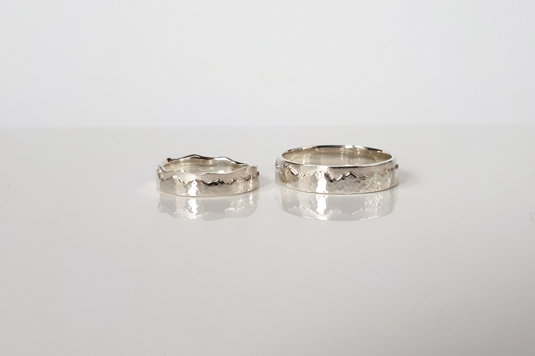 The Alps wedding rings