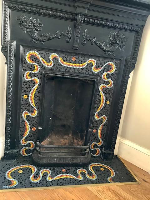 Dancing ribbon fireplace