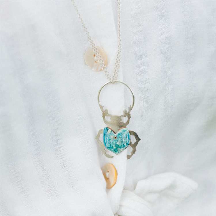 Scarab and The Sun Necklace
