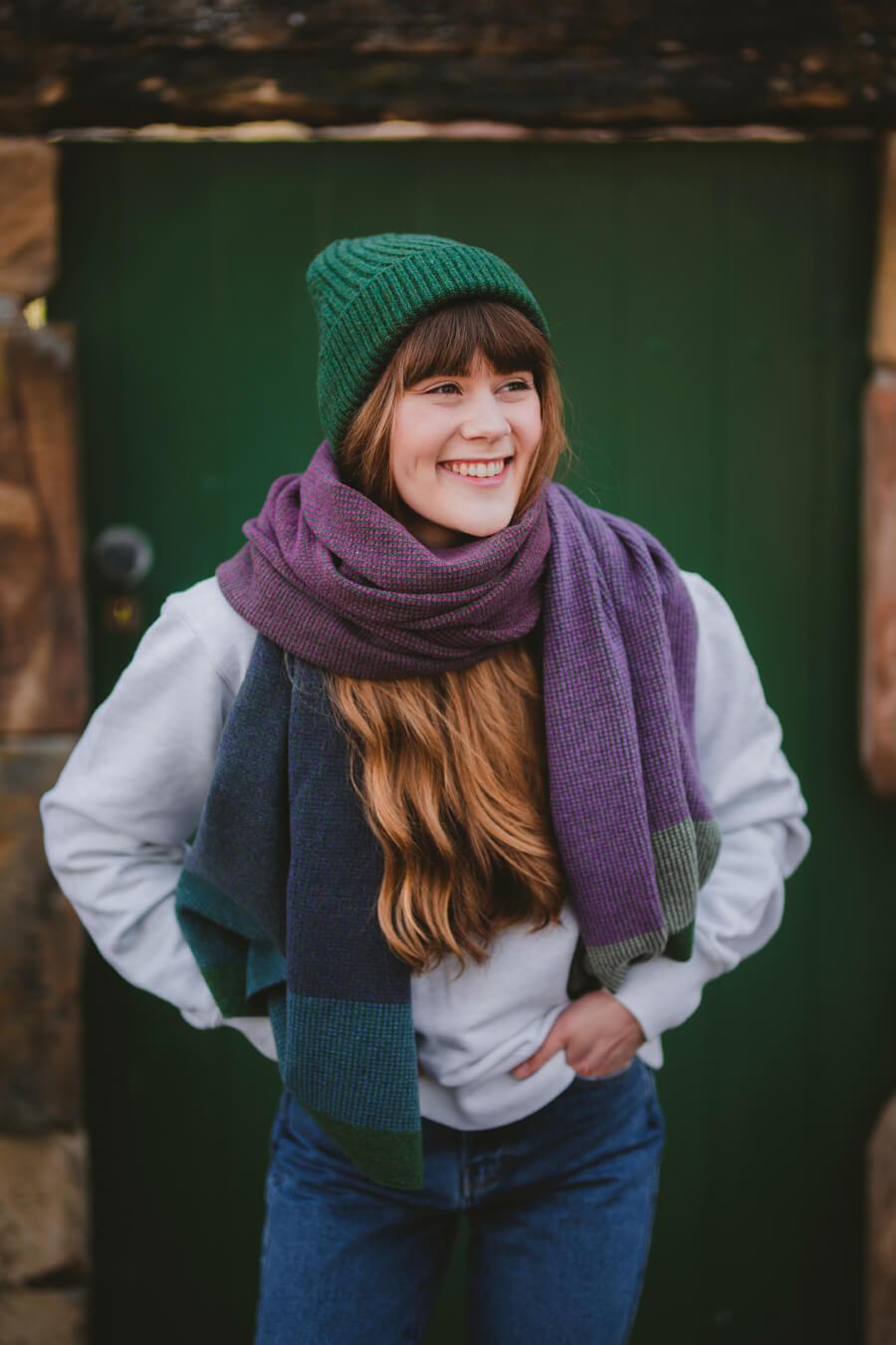 Eildon Blanket scarf with Eildon beanie
