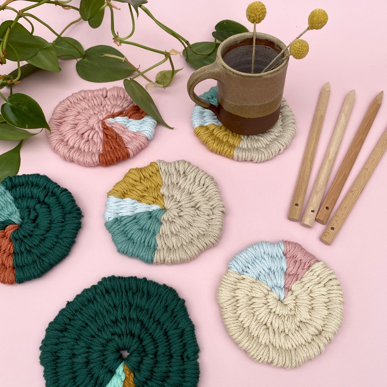 Craft Sunday: Woven Coasters with Le Petit Moose